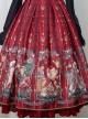 Alice's Christmas Series JSK Classic Lolita Wine Red Sling Dress