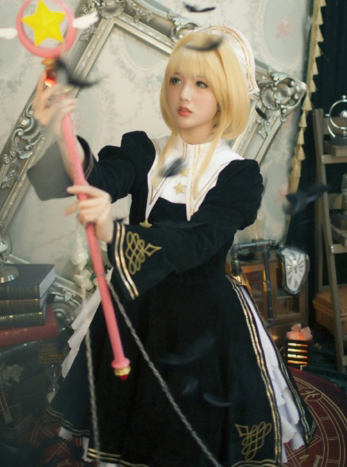Cardcaptor Sakura Series OP Black Angel Gothic Lolita Long Sleeve Dress