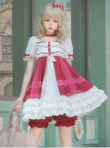 Strawberry Mousse Series Sweet Lolita Short Sleeve Dress Set