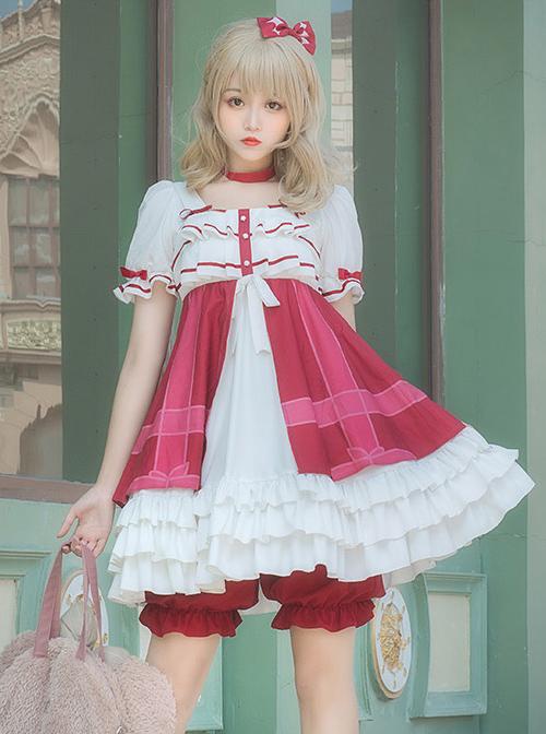 Strawberry Mousse Series Sweet Lolita Short Sleeve Dress Set