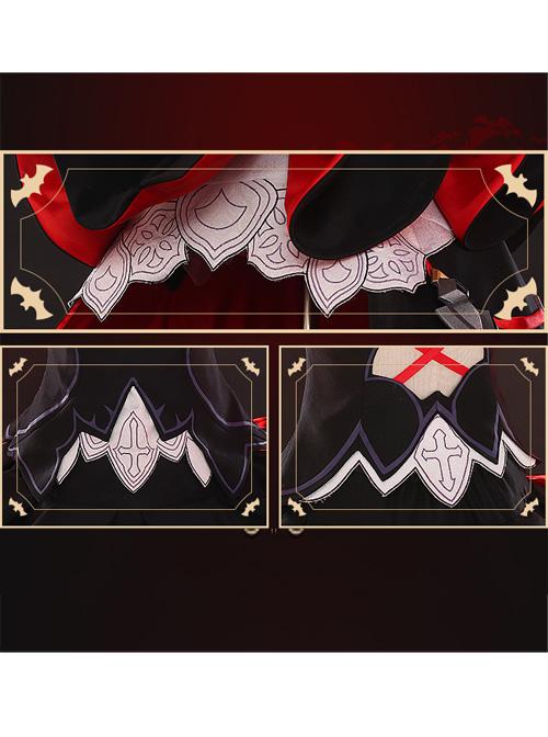 Honkai Impact 3 Delissa Gothic Dress Cosplay Set