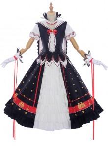 Cherry Blossom Key Series Sweet Cosplay Lolita Short Sleeve Dress Set