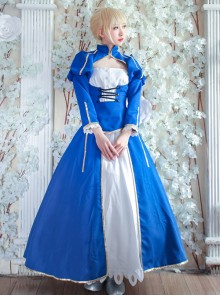Fate/Grand Order Saber Series Lolita Blue Cosplay Long Sleeve Dress