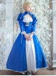 Fate/Grand Order Saber Series Lolita Blue Cosplay Long Sleeve Dress