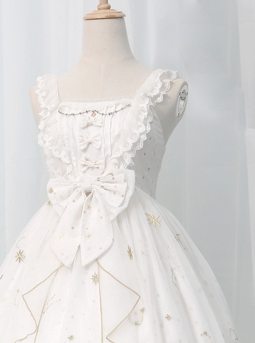 *The Night Of Stars And Moon* JSK High Waist Gradient Classic Lolita Sleeveless Starry Sky Dress