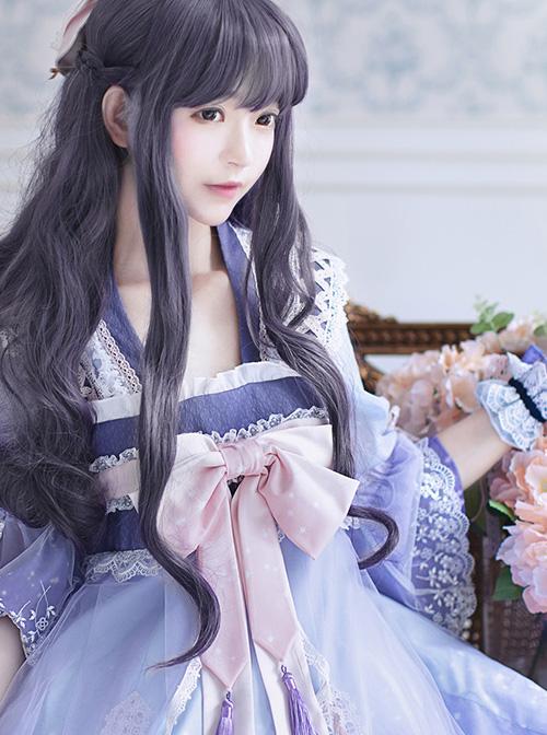 Cardcaptor Sakura Series OP Gradient Chinese Style Qi Lolita Long Sleeve Dress