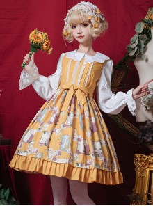 Springtime Hand Stick Series JSK Classic Lolita Sleeveless Dress