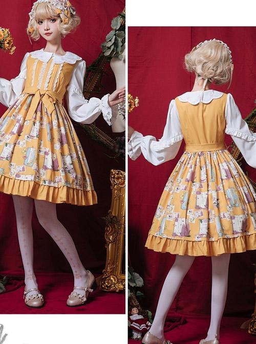 Springtime Hand Stick Series JSK Classic Lolita Sleeveless Dress