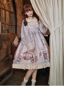 Fairy Tales Series OP Doll Collar Classic Lolita Long Sleeve Dress