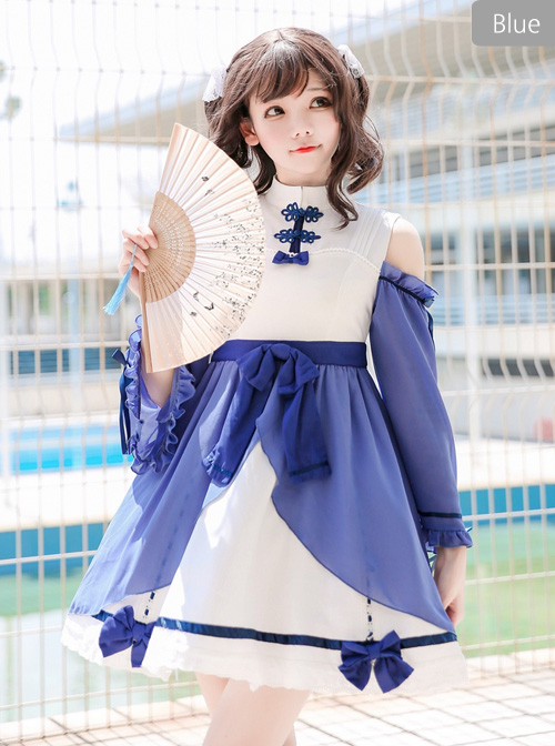 The Han Dynasty Elements Improved Lolita Chinese Style Long Sleeve Dress