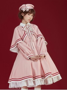 Cardcaptor Sakura Series Pink Cloak OP Sweet Lolita Long Sleeve Dress