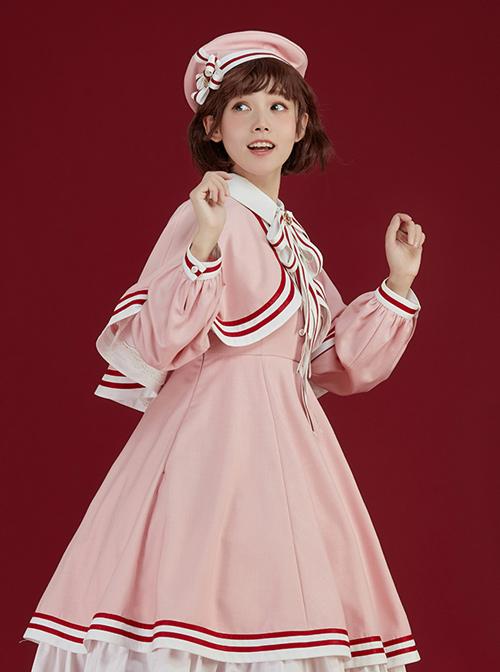 Cardcaptor Sakura Series Pink Cloak OP Sweet Lolita Long Sleeve Dress