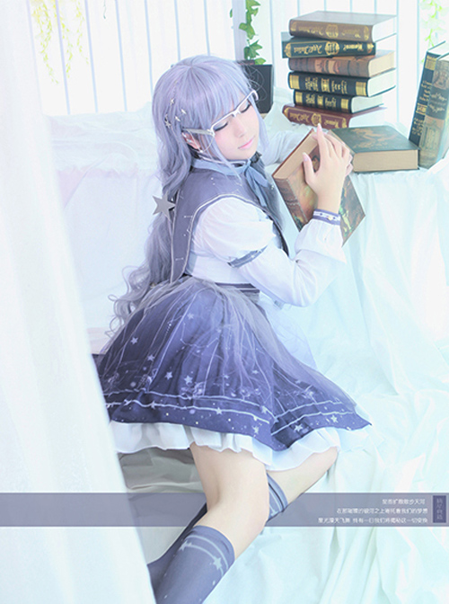 Miracle Nikki- Picking Stars Ancient Books Series Cosplay OP Classic Lolita Constellation Variable Short Sleeve Long Sleeve Dress