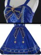 *Star Dream Magic Array* Series JSK Classic Lolita Blue Sling Dress