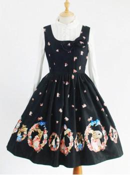*Corolla Rabbit* Series Square Collar Classic Lolita Sleeveless Dress
