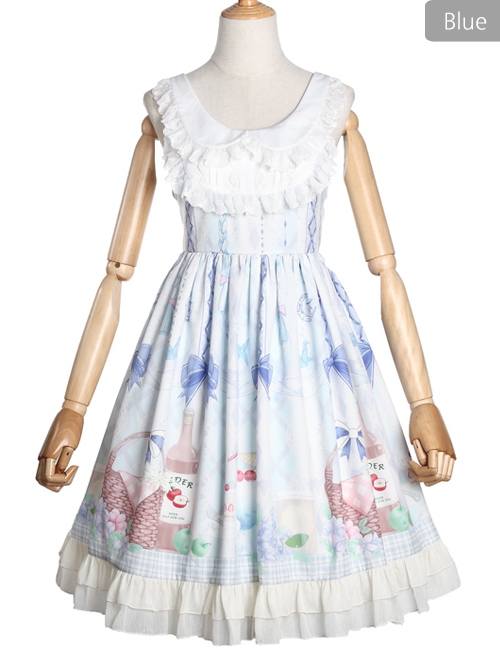Afternoon Time Series JSK Lace Doll Collar Sleeveless Dress