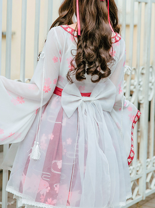Goldfish Sakura Princess Embroidery Sweet Lolita Long Sleeve Dress