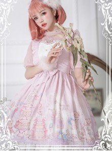 November's ode Series JSK Cute Printing Sweet Lolita Sling Dress