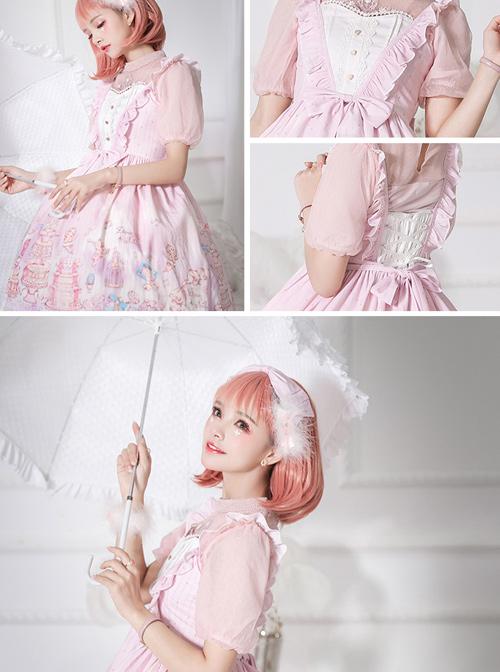 November's ode Series JSK Cute Printing Sweet Lolita Sling Dress