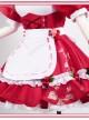 Cherry Decoration Rose Printing Red Sweet Lolita Short Sleeve Puff Sleeve Dress