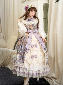 Dusk Of The Gods Series Elegant Retro Classic Lolita Long Sleeve Long Dress