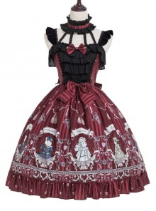 Magic Tea Party Rose Knight Series Classic Lolita Sling Dress