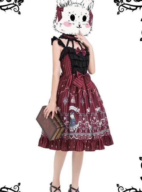 Magic Tea Party Rose Knight Series Classic Lolita Sling Dress