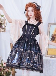 Astrology College Series Printing  JSK Classic Lolita Sling Dress
