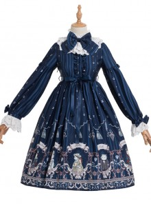 Magic Tea Party Rose Knight Series Classic Lolita Long Sleeve Dress