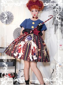Circus Rabbit Series OP Bowknot Sweet Lolita Short Sleeve Dress