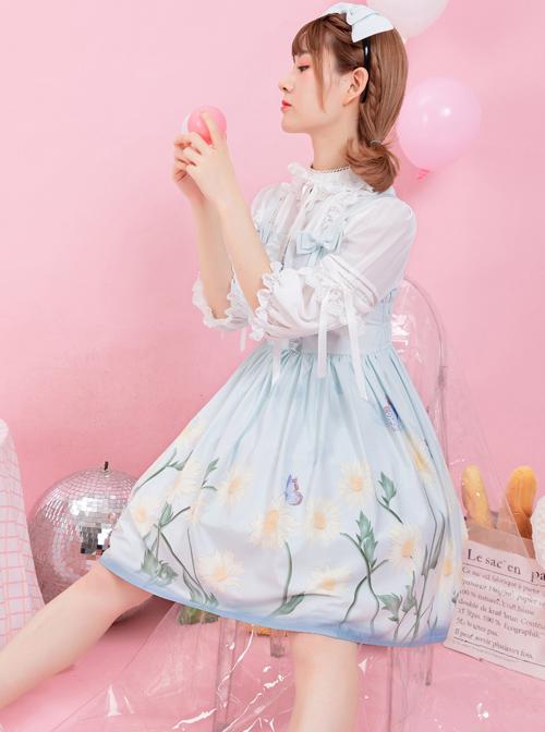 Daisy Series JSK Printing Bowknot Sweet Lolita Sling Dress