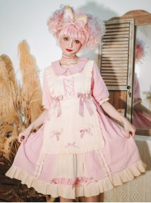 Sweet Cream Series OP Doll Collar Classic Lolita Short Lolita Dress