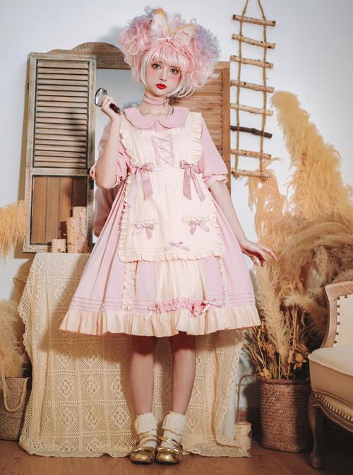 Sweet Cream Series OP Doll Collar Classic Lolita Short Lolita Dress