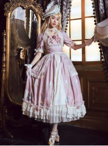 The Poetry Of Roses Series Elegant Classic Lolita Short Sleeves Long Dress