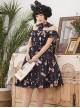 Magic Tea Party Chocolate Rabbit Series OP Lapel Sweet Lolita Short Sleeve Dress