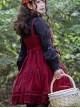 Danube Lovers Series Ruffle Classic Lolita Corduroy Autumn Winter Sling Dress