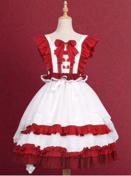 Sweet Tea Tale Series Ruffle Sweet Lolita Little Flying Sleeve Dress