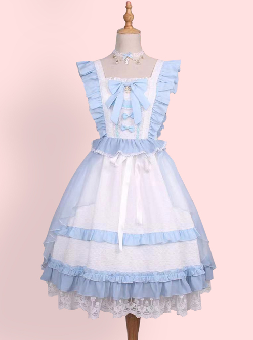 Sweet Tea Tale Series Ruffle Sweet Lolita Little Flying Sleeve Dress