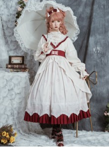 North Mirror Flower Series OP Classic Lolita Nordic Court Style Autumn Winter Long Sleeve Dress