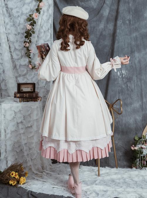 North Mirror Flower Series OP Classic Lolita Nordic Court Style Autumn Winter Long Sleeve Dress