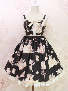 Oil Painting Angel Series JSK Sweet Lolita Sling Dress