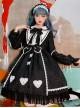 Alice Story Series Bowknot Doll Collar Sweet Lolita Long Sleeve Dress