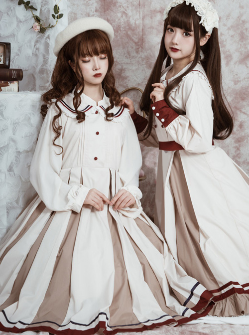 The Distant Letter Series Elegant Pure Color Classic Lolita Autumn Winter Sleeveless Dress And Shirt Set