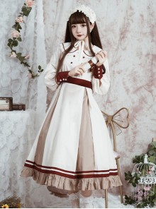 The Distant Letter Series Lapel Elegant Classic Lolita Autumn Winter Long Sleeve Dress