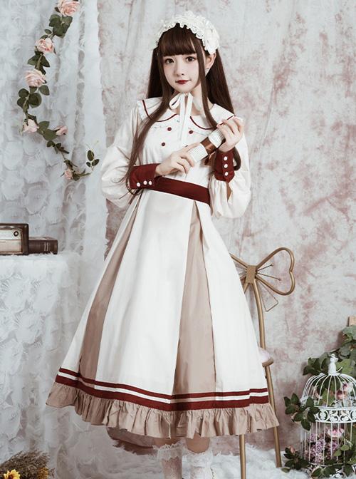 The Distant Letter Series Lapel Elegant Classic Lolita Autumn Winter Long Sleeve Dress