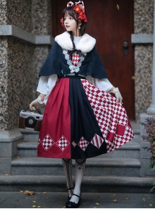Sparrow Tea Series Japanese Style Classic Lolita Sling Dress And Shirt And Cloak Set