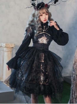 Divine Salvation Series Retro Gothic Lolita Sling Dress
