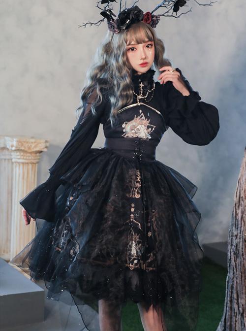 Divine Salvation Series Retro Gothic Lolita Sling Dress