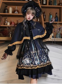 Divine Salvation Series OP Retro Gothic Lolita Long Sleeve Dress Full-set