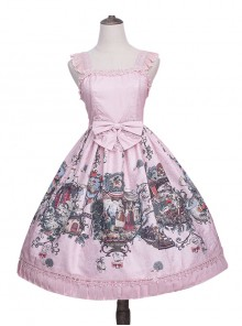 Strawberry Witch *The Fairytale Drama Of Chibor* Series Bowknot Sweet Lolita Sleeveless Dress